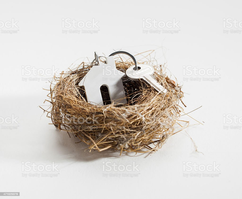 comfortable nest for new home ownership stock photo
