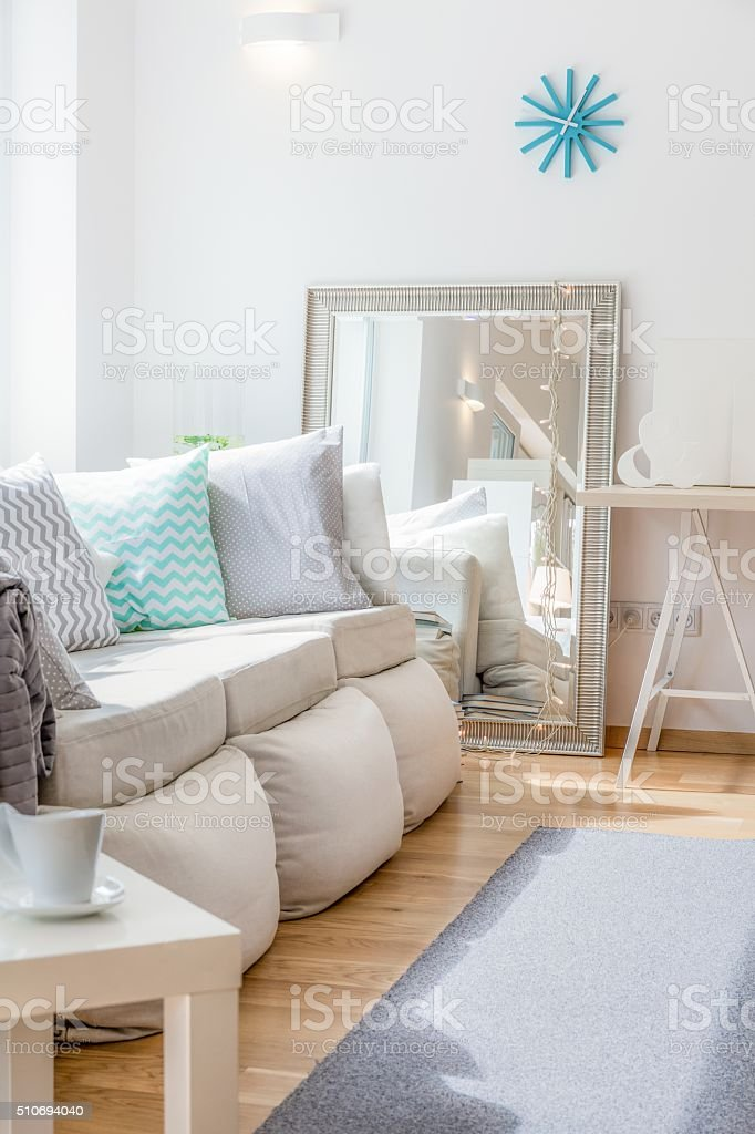 Comfortable nook to relax stock photo