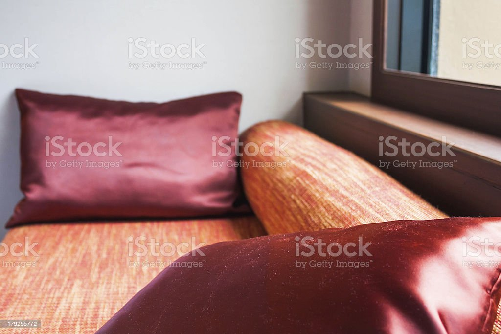 Comfortable oriental style of living room corner royalty-free stock photo
