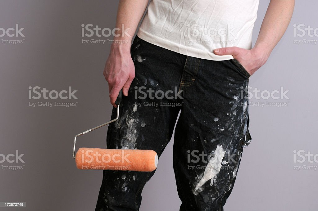 Comfortable Painter royalty-free stock photo