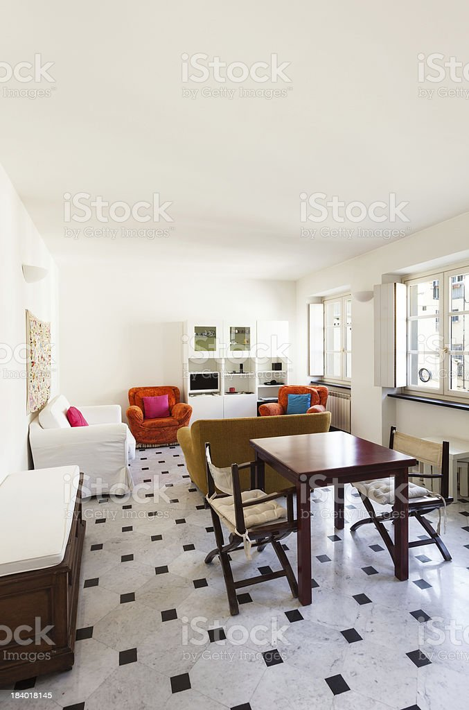 comfortable small apartment royalty-free stock photo