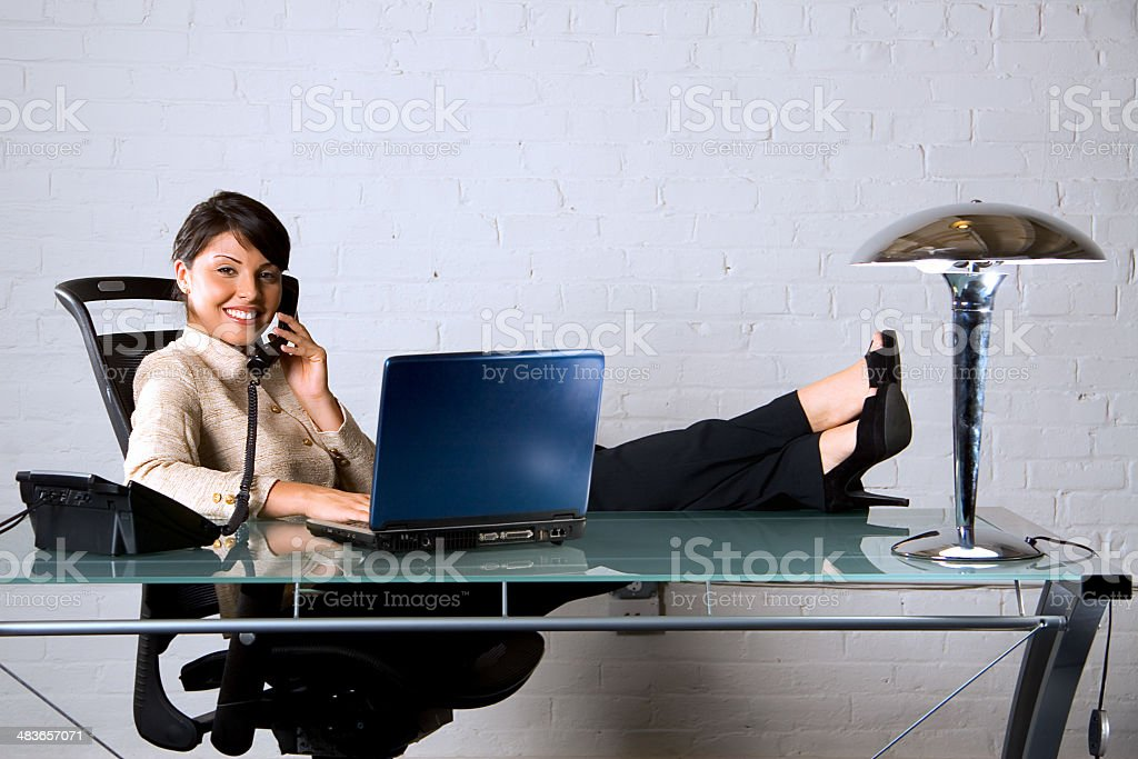 Comfortable success royalty-free stock photo