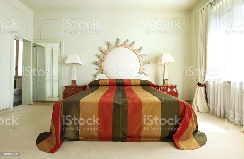 comfortable suit, bedroom royalty-free stock photo