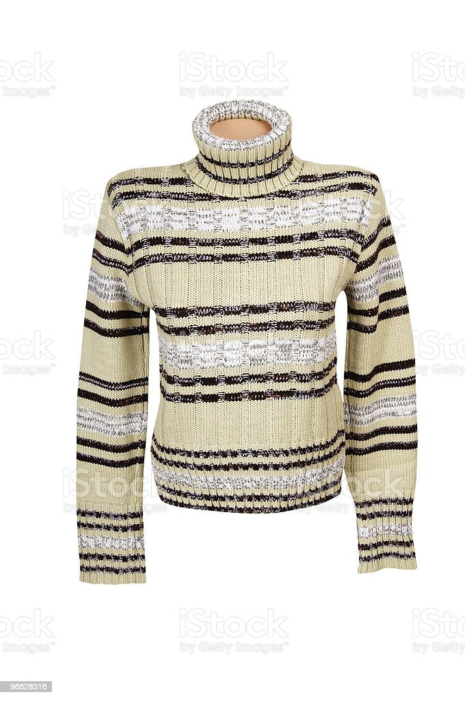 Comfortable winter sweater on a white. royalty-free stock photo
