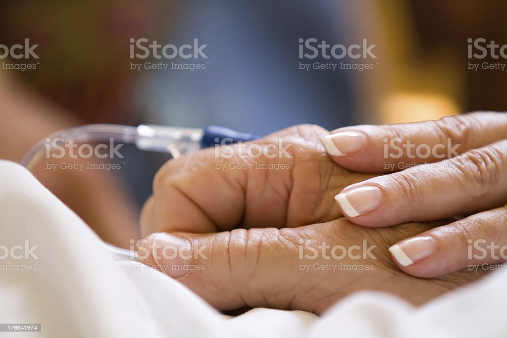 Comforting Hand stock photo