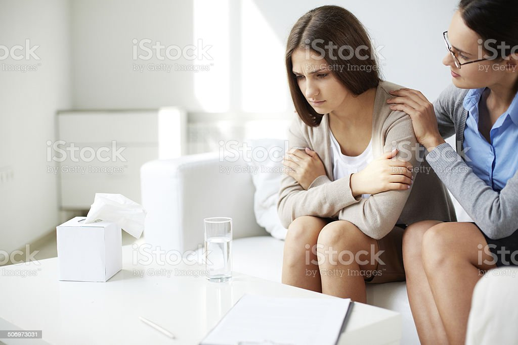 Comforting patient stock photo