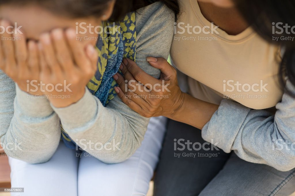 Comforting stock photo