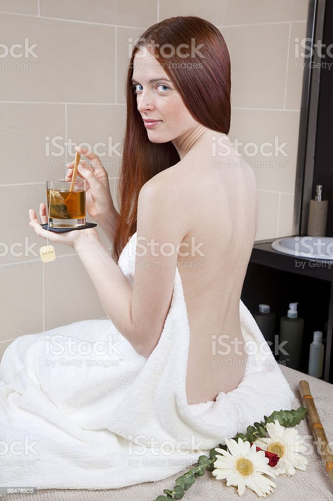 Comforting tea royalty-free stock photo