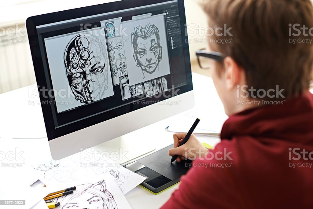 Comic book art stock photo