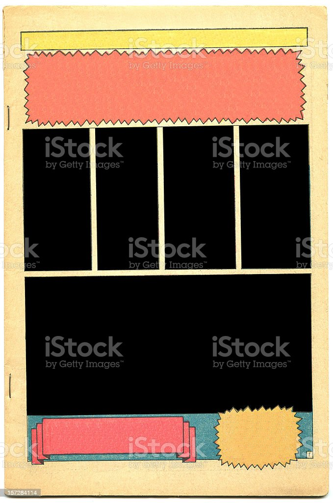 Comic Book Interface royalty-free stock photo