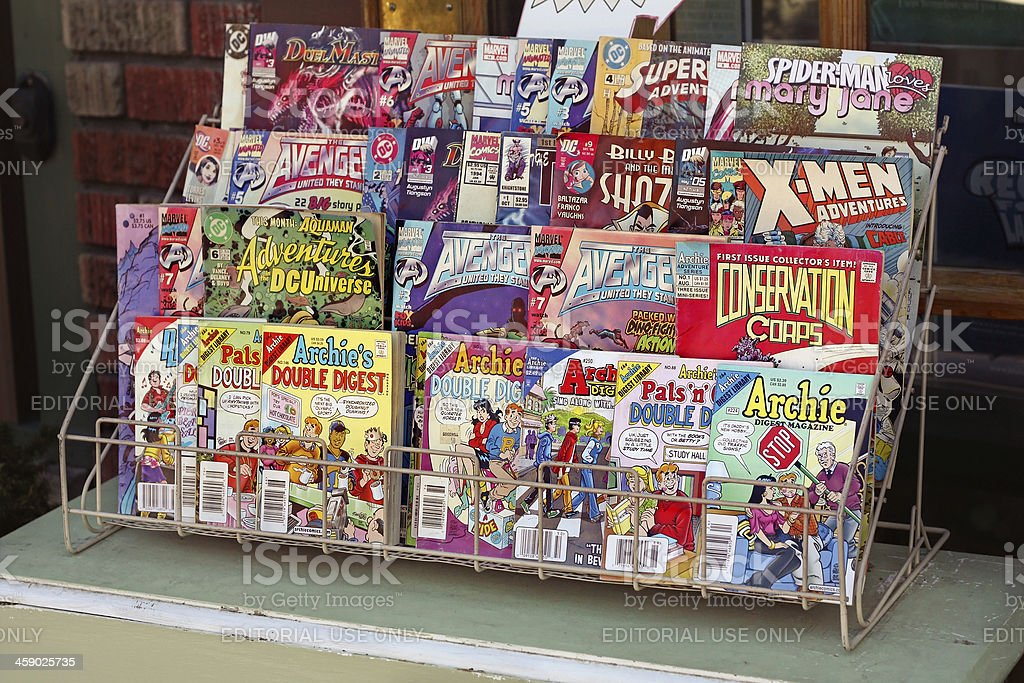 Comic Books for Sale stock photo