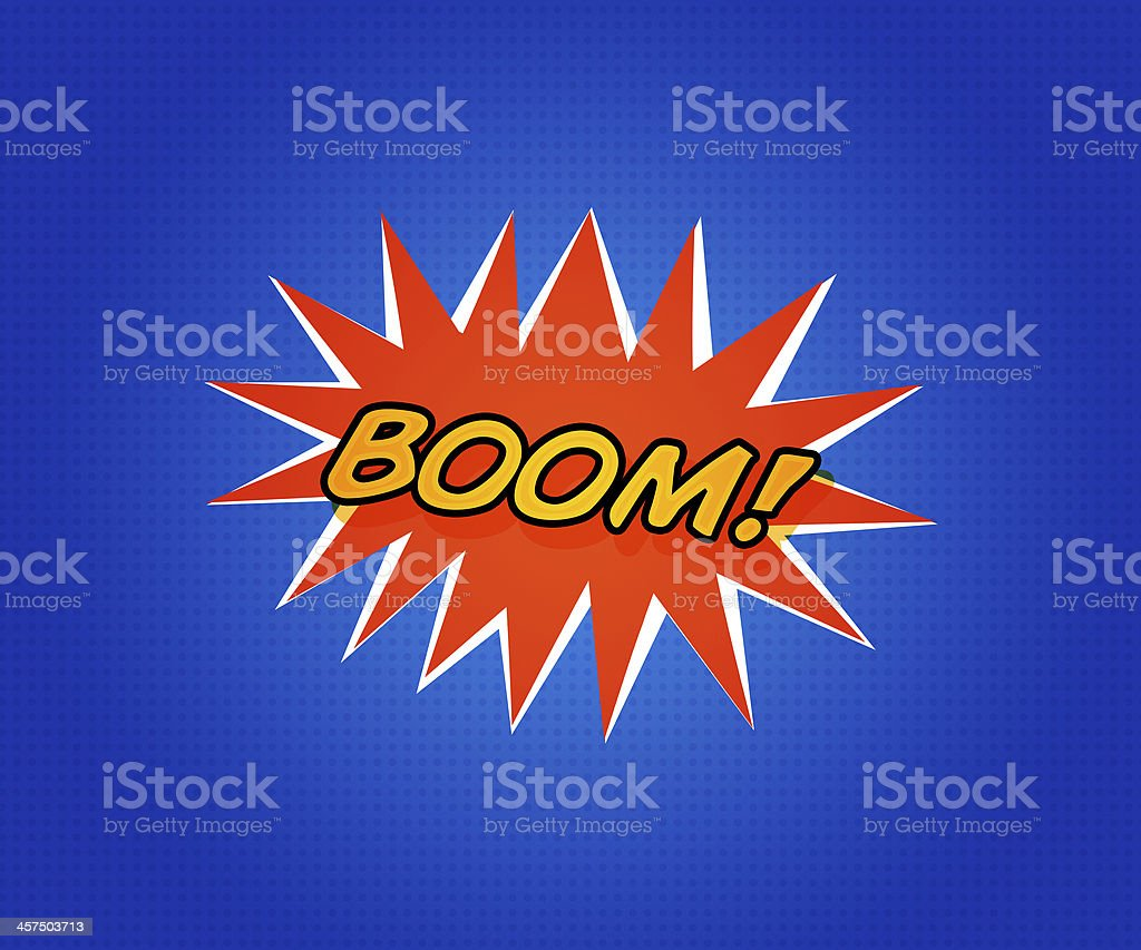 Comic Boom royalty-free stock photo