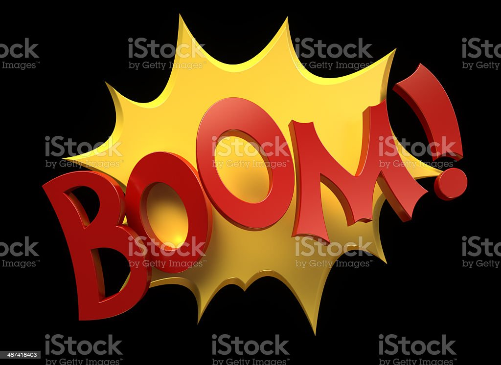 Comic Boom stock photo