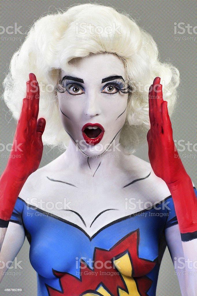 Comic Superhero royalty-free stock photo