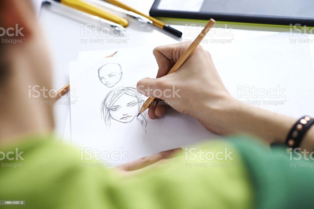Comics sketch stock photo