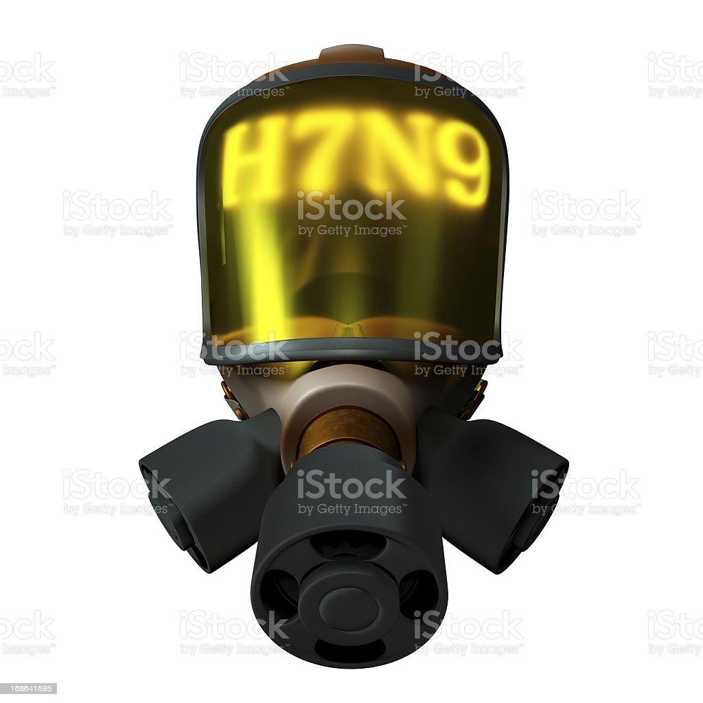H7N9 coming 3D Biomedical Illustration stock photo