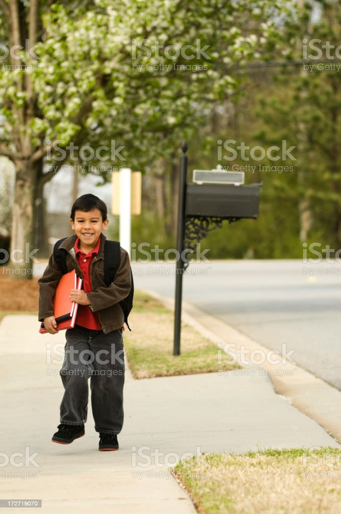 coming home from school royalty-free stock photo