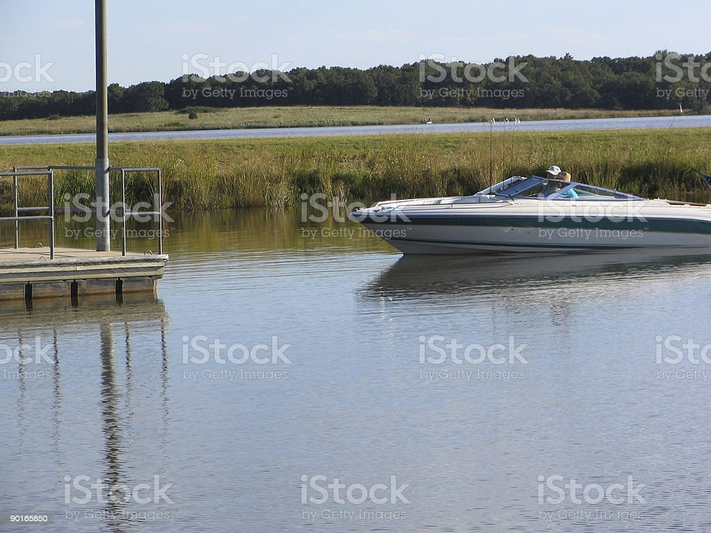 Coming in to Dock royalty-free stock photo