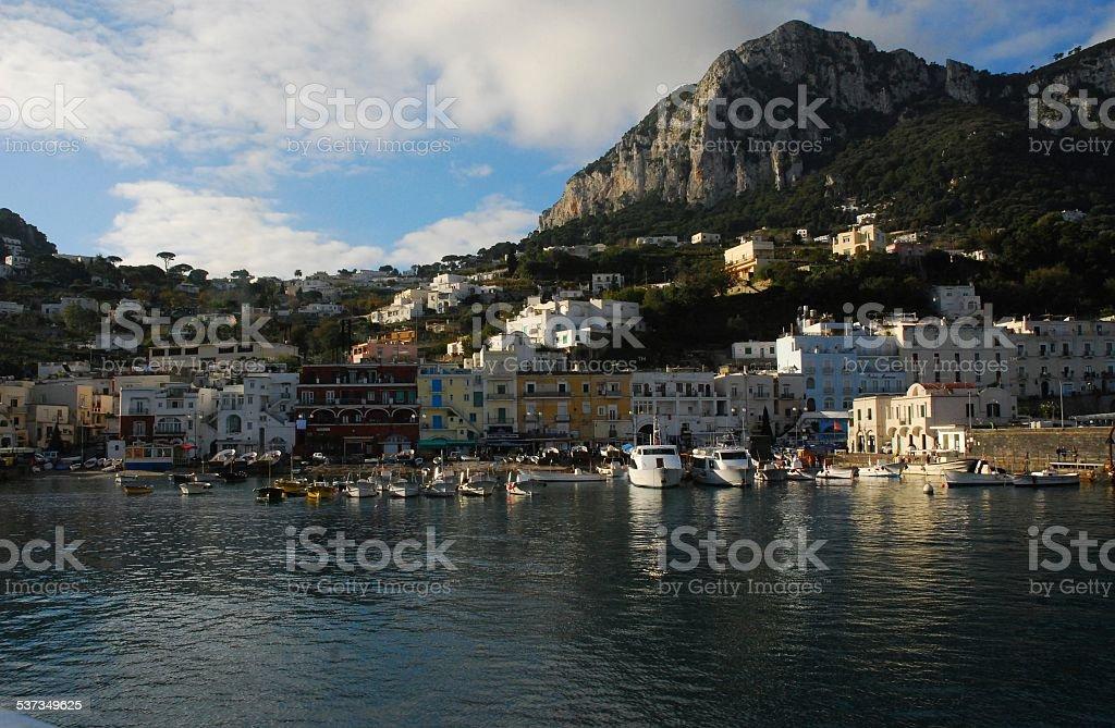 Coming Into the Dock on Capri Island, Italy royalty-free stock photo