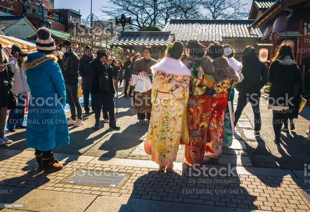 Coming of Age Kimonos stock photo