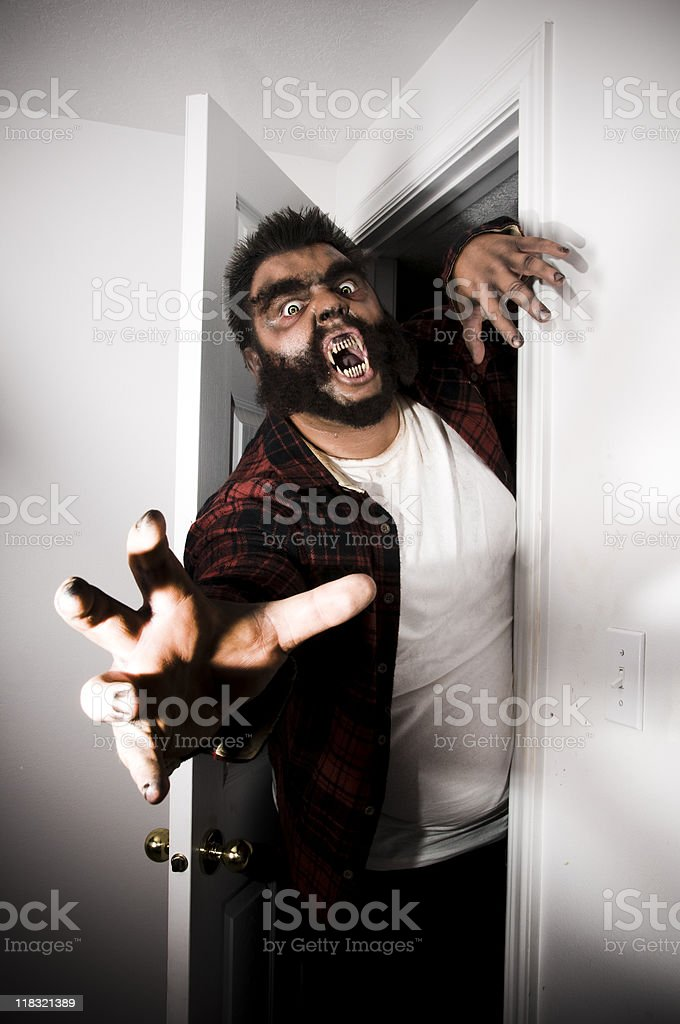 coming out of the closet stock photo