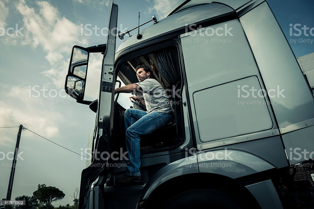Coming Out Of Track stock photo