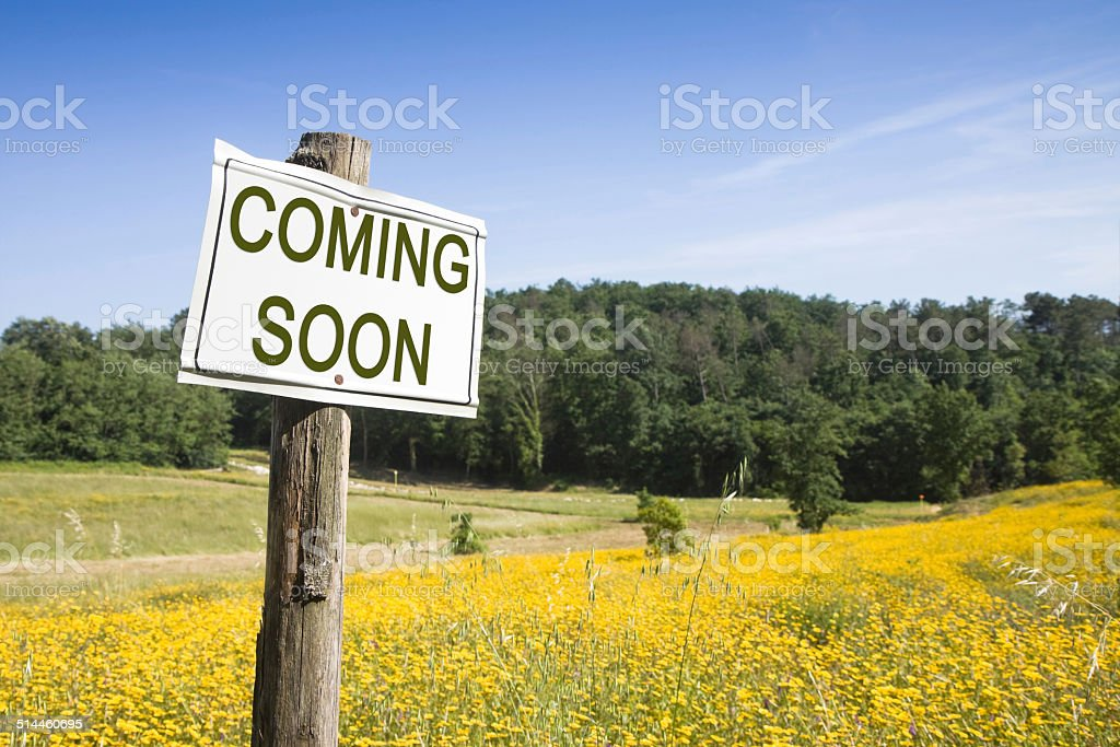 Coming Soon concept stock photo