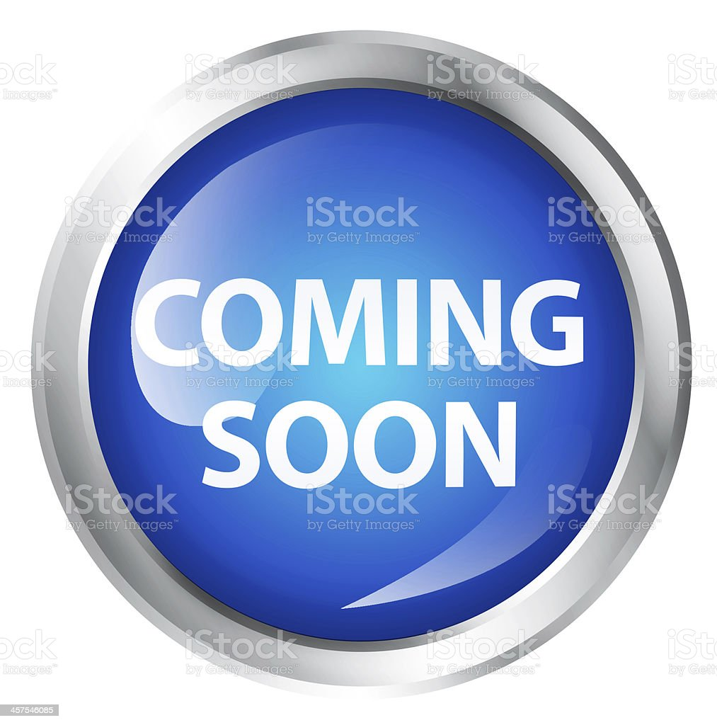 Coming soon icon stock photo