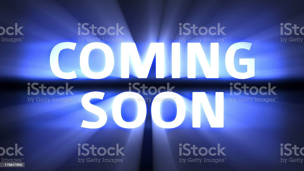 Coming Soon movie royalty-free stock photo