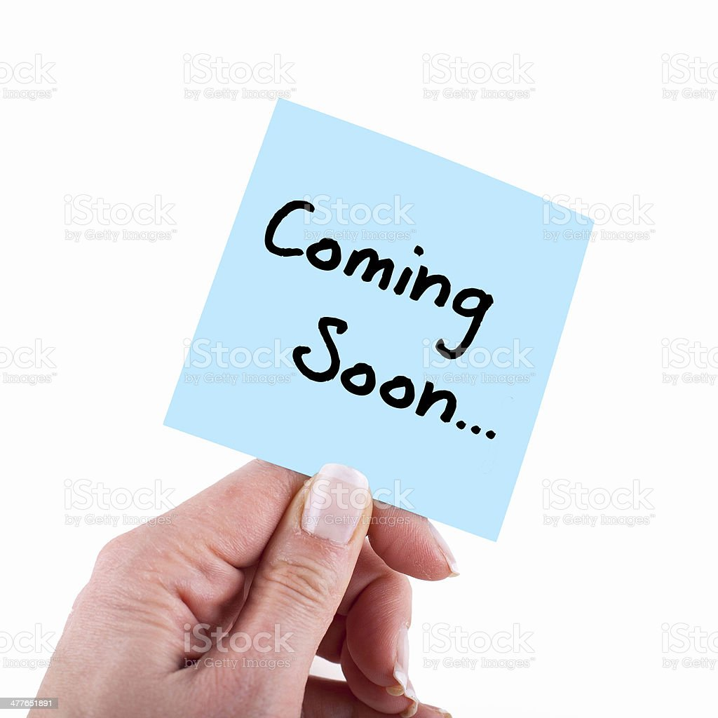 Coming Soon... stock photo