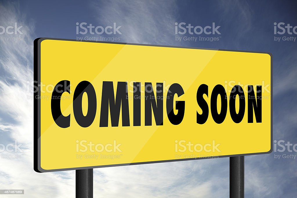 Coming Soon royalty-free stock photo