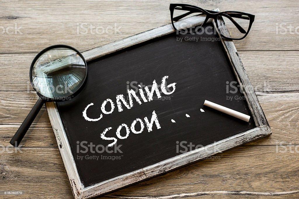 Coming Soon  ! stock photo