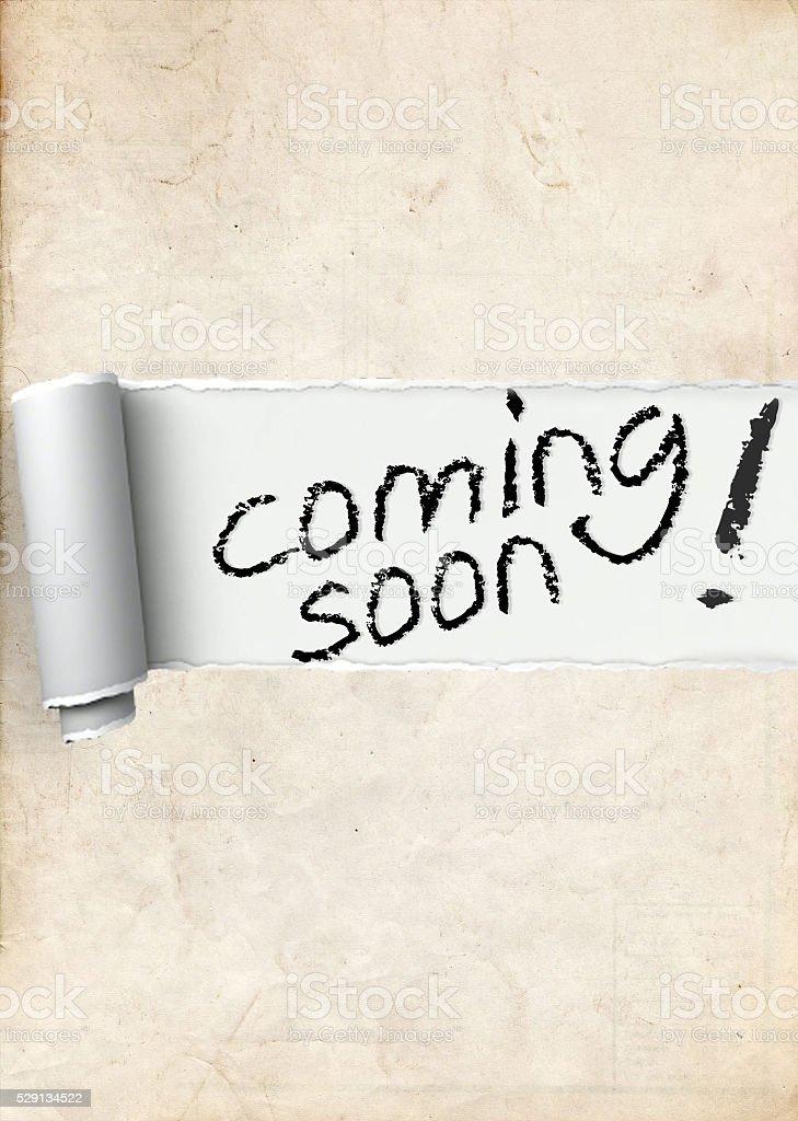 coming soon stock photo