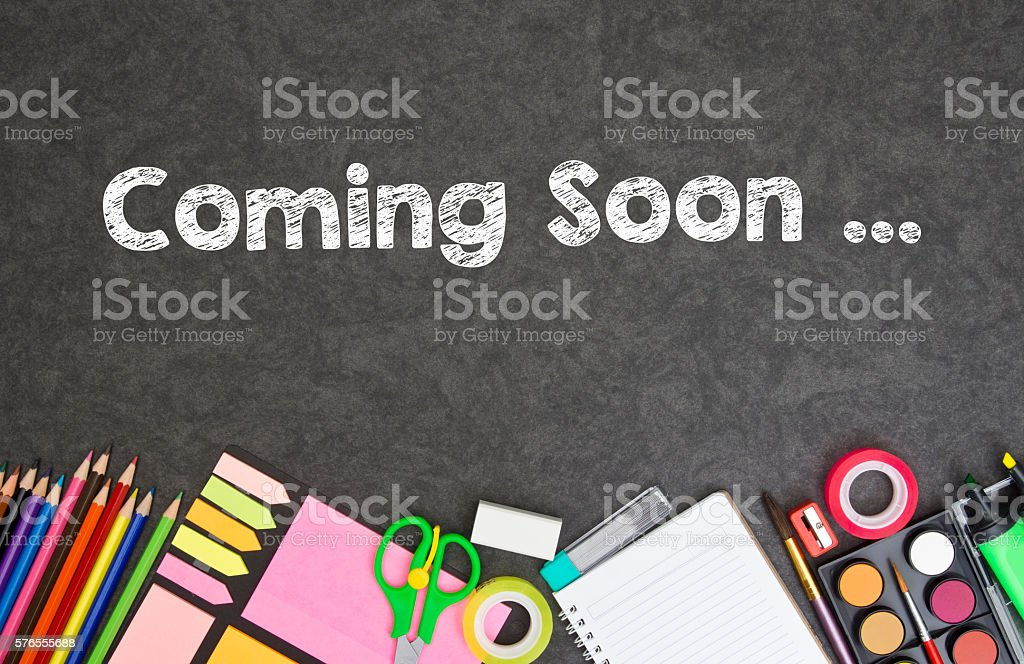 Coming Soon ... stock photo
