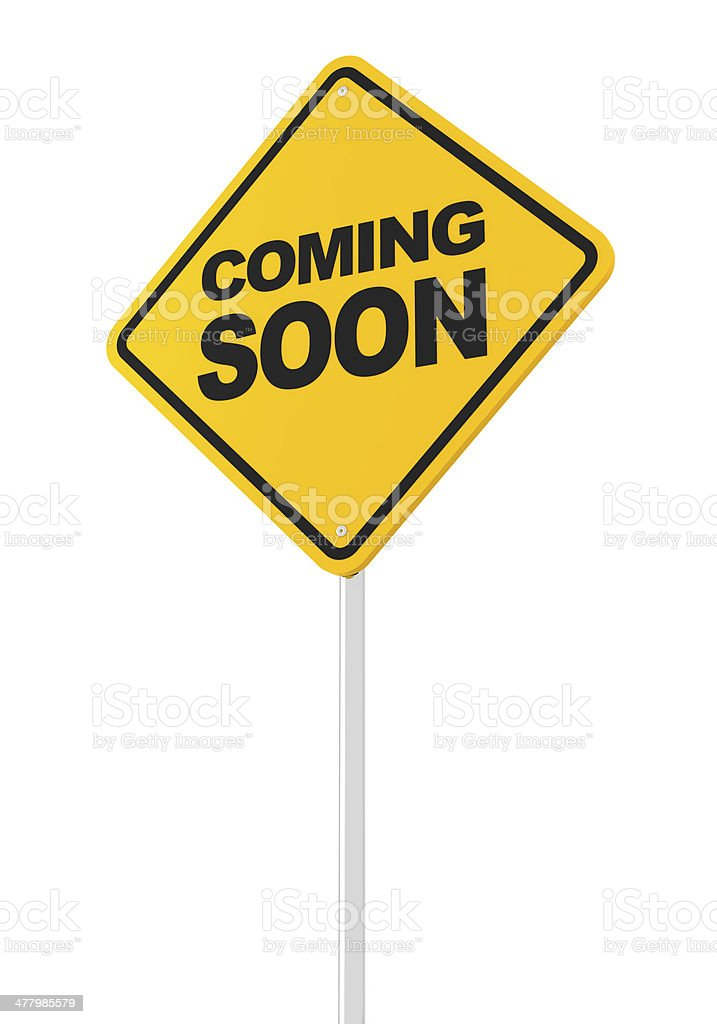 Coming soon road sign royalty-free stock photo