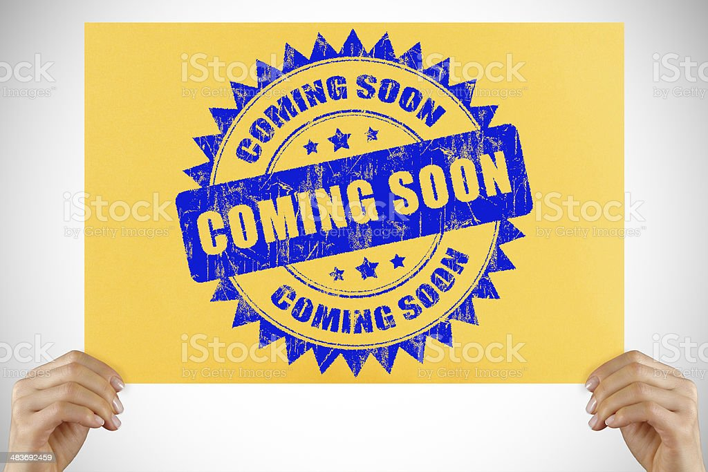 Coming Soon sign royalty-free stock photo