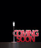 coming soon sign,3d rendering