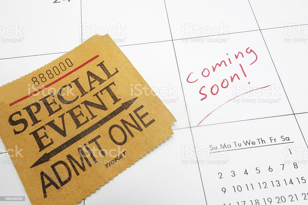 coming soon ticket royalty-free stock photo