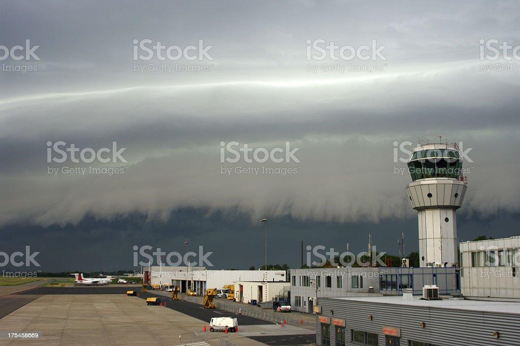 Coming thunderstorm stock photo