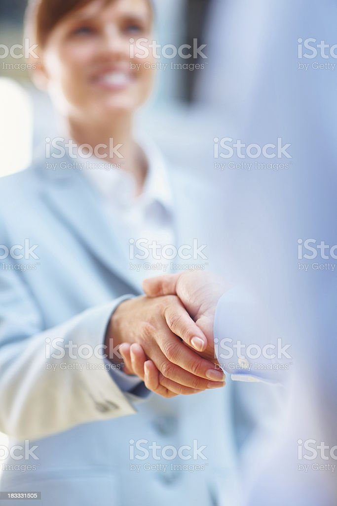 Coming to an agreement royalty-free stock photo