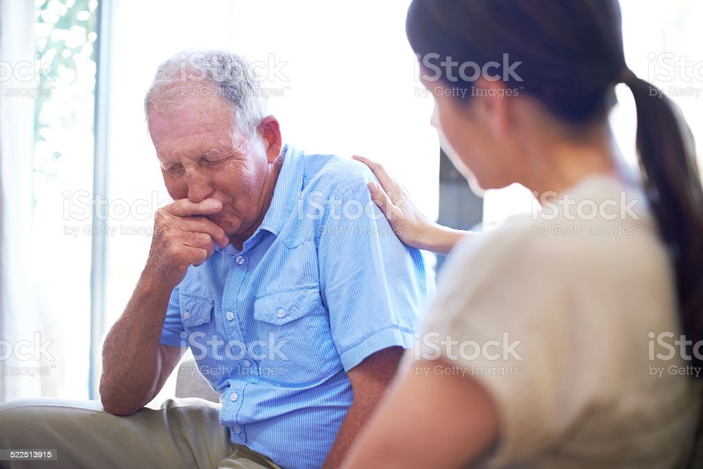 Coming to grips with loss stock photo