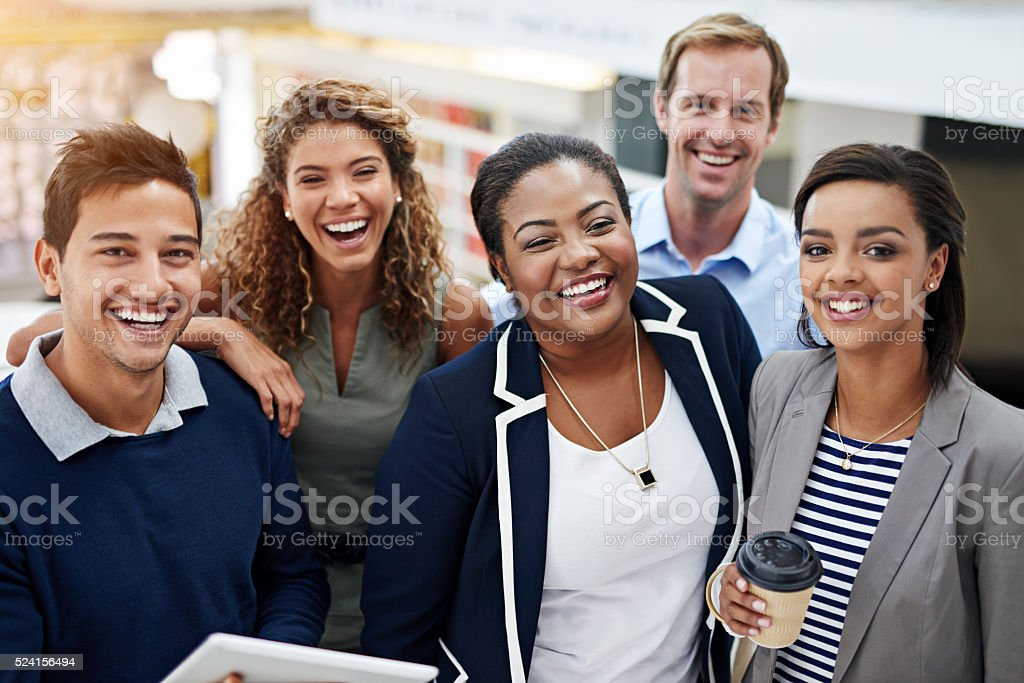 Coming together for the team's success stock photo