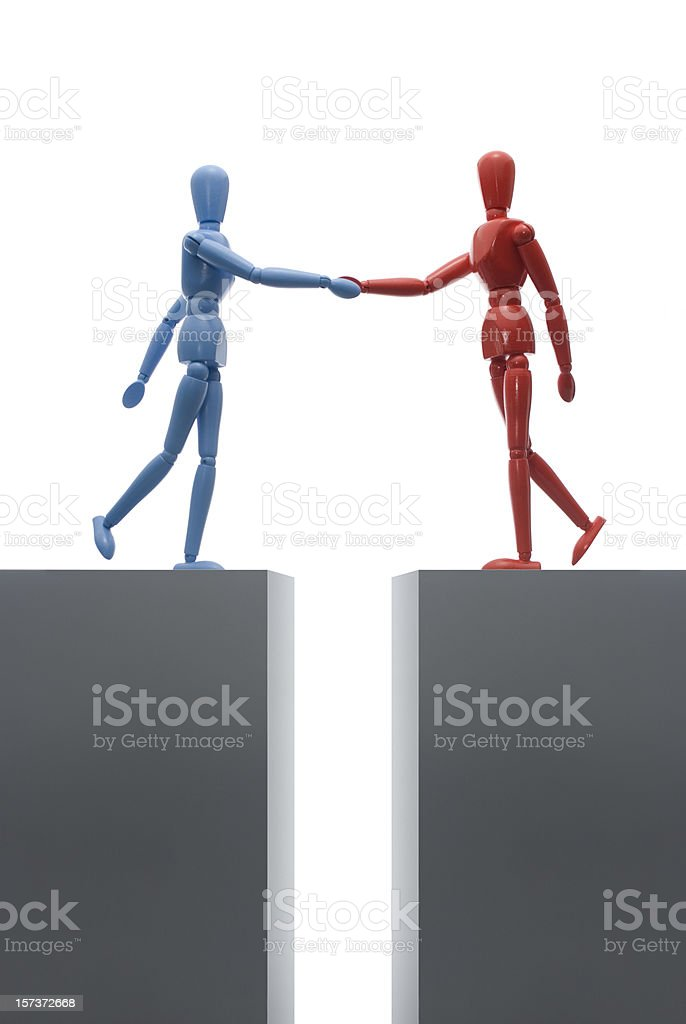 Coming together royalty-free stock photo