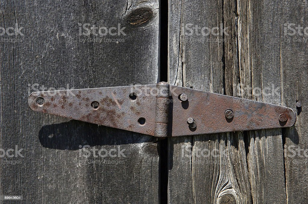 Coming Unhinged stock photo
