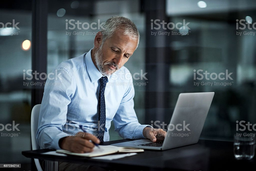 Coming up with a plan to move business forward stock photo
