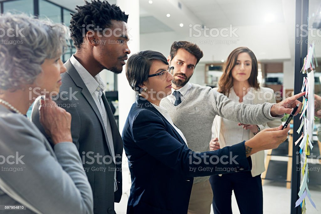 Coming up with a strategy for success stock photo
