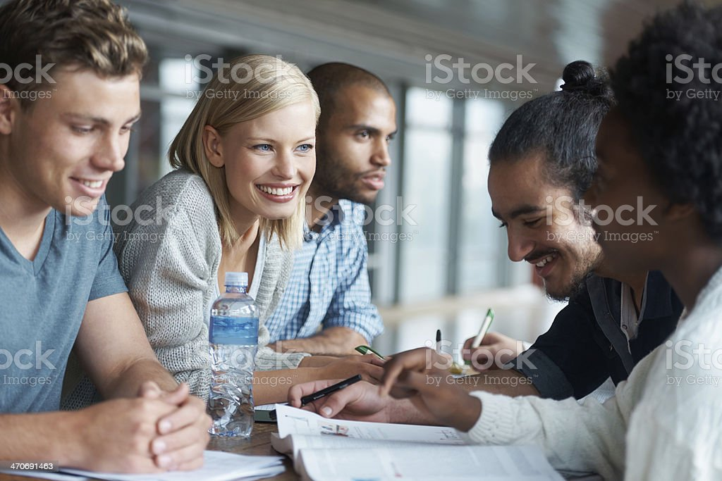 Coming up with all the answers royalty-free stock photo