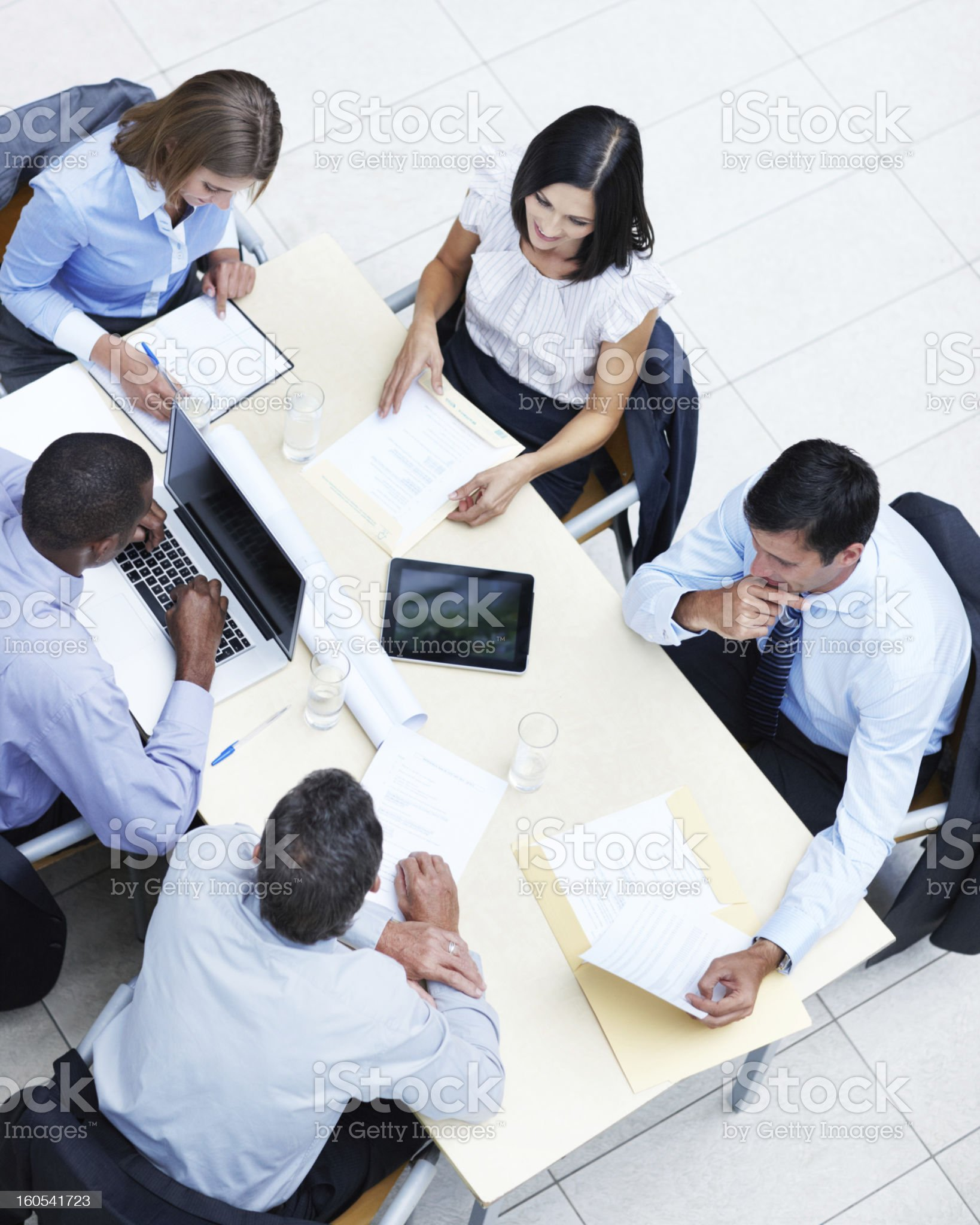 Coming up with corporate plans royalty-free stock photo
