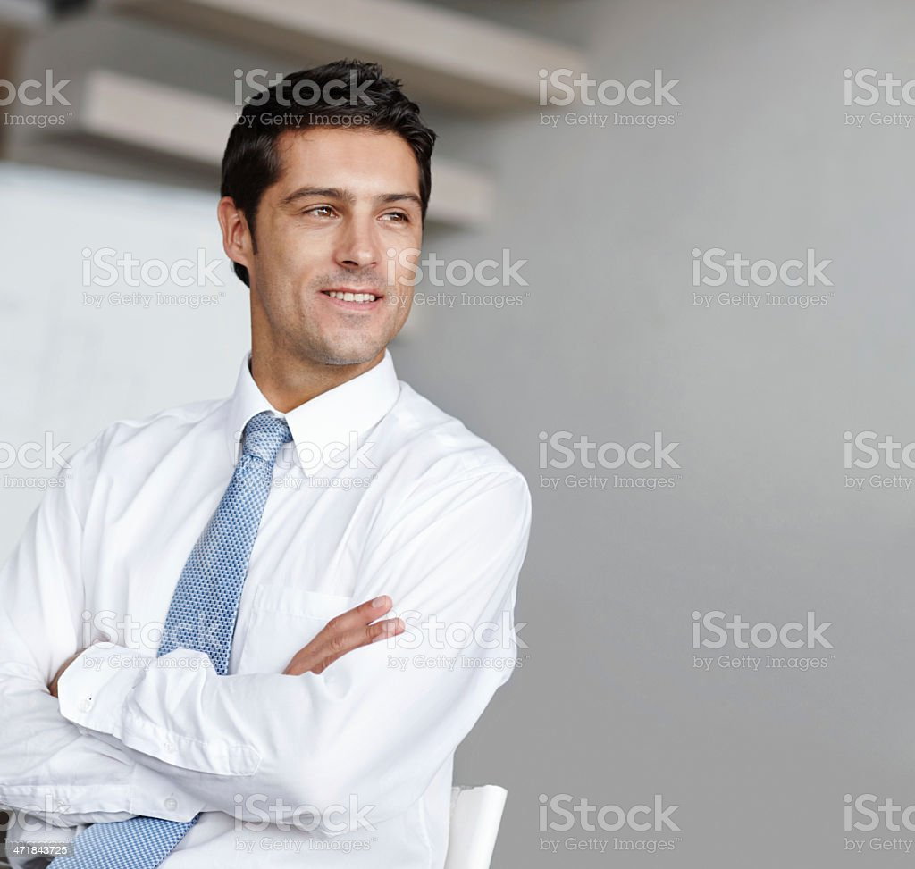 Coming up with ingenious business ideas royalty-free stock photo