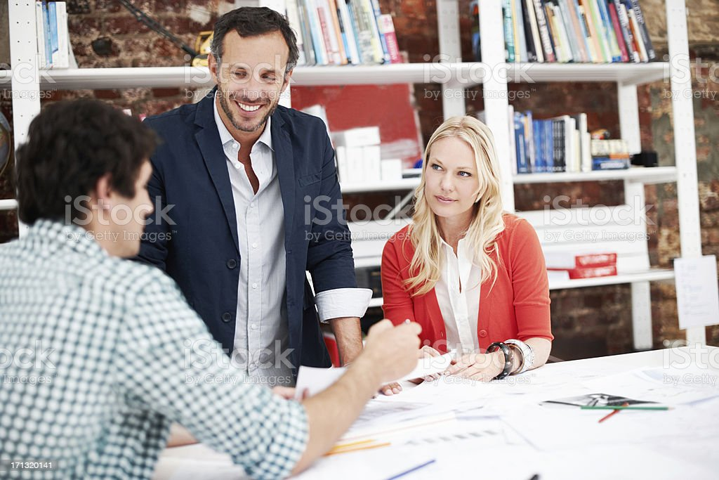 Coming up with solutions royalty-free stock photo